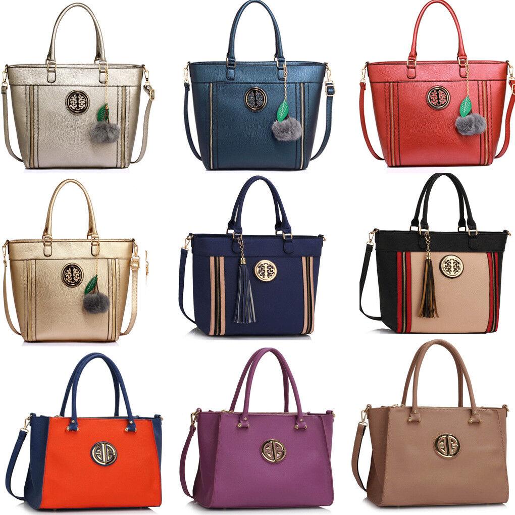 Women's Large Tote Bags Ladies Designer Faux Leather Handbag