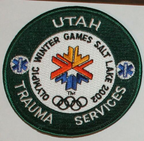 UTAH TRAUMA SERVICES 2002 Olympic Winter Games Salt Lake UT EMS EMT patch