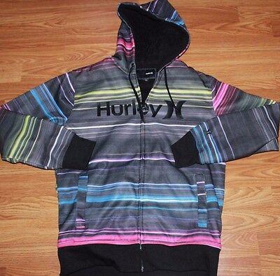 Hurley Men's Full Zip Sweatshirt Hoodie Fleece Jacket Skateboard Size Small