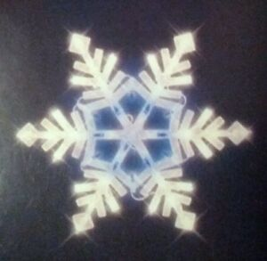Lighted Christmas Window Decoration, Snowflake White / Blue Lights