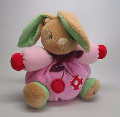 Kaloo Colors Baby Infant Plush Toy Small Chubby Rabbit Cherry Detail Stuffie New, used for sale  Eureka