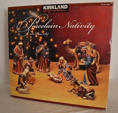 LARGE NATIVITY Set Kirkland Signature 10 pc 18 lb Excellent!  ZERO flaws