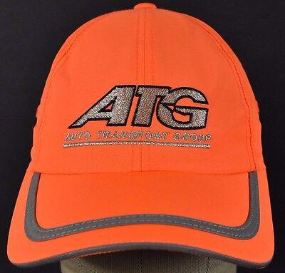 Neon Orange Atg Auto Transport Group Embroidered Baseball Hat Cap Adjustable