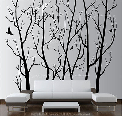 Large Wall Art Decor Vinyl Tree Forest Decal Sticker (choose size and color) ()