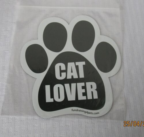 CAT LOVER PAW PRINT PET MAGNET CAR TRUCK REFRIGERATOR