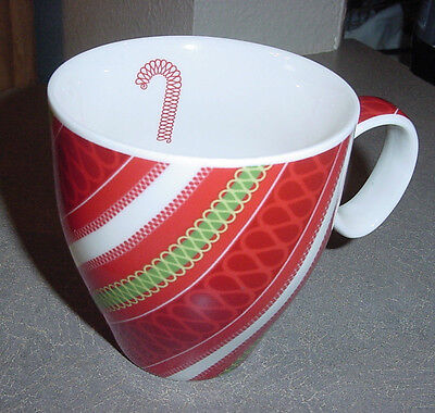 2006 Starbucks Coffee Mug Candy Cane Ribbon Red Stripes Displayed Only Cup](Candy Cane Coffee)