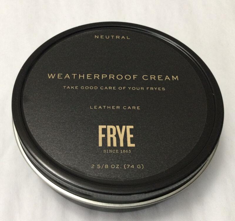 New Frye Weatherproof Leather Care Cream Frye Boots & Leather Goods 2-5/8oz (G4)