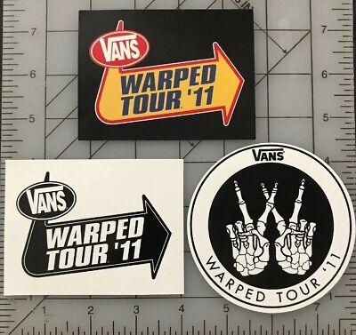 a5cb28e91dffa Vans Warped Tour 2011 Lot Skateboard Sticker Off The Wall Skate Decal Surf  Snow
