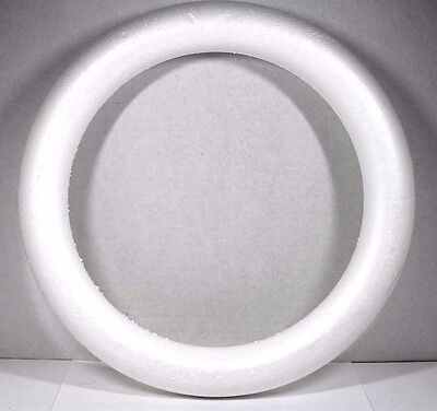 LARGE CRAFT STYROFOAM DOOR WREATH ROUND CIRCLE FORM PROJECT RING 14