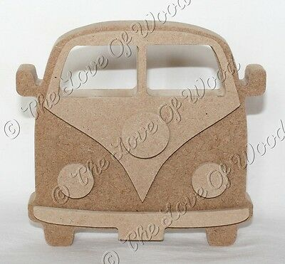 Free standing 3D CAMPERVAN wooden craft shape MDF 18mm thick