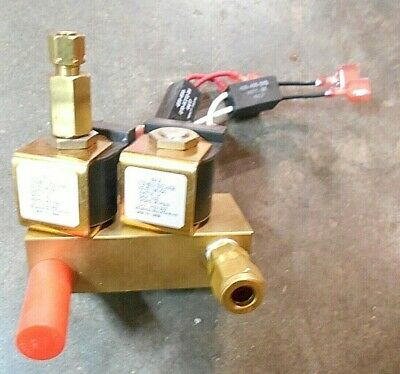 Solenoid Solutions Sv1 Sv2 On Brass Manifold Fff-2