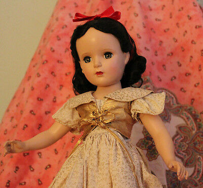 "Vintage Madame Alexander Snow White Doll, hard plastic, 17"", all original"