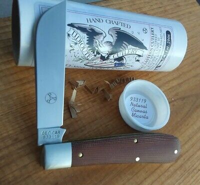 Great Eastern Cutlery GEC Tidioute 93 Swayback Jack knife natural Canvas Micarta