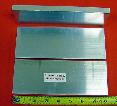 3 Pieces 12 X 3 Aluminum 6061 T6511 Flat Bar 8 Long .500 Plate Mill Stock