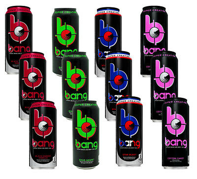 VPX BANG Energy Drink Assortment PACK CASE OF 12 + FREE SHIPPING!