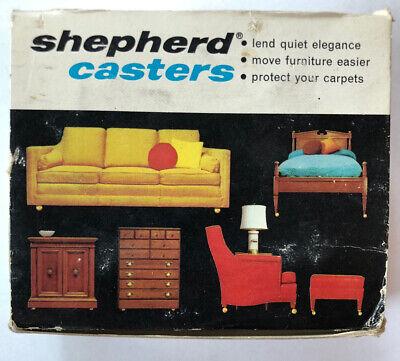 Vintage Shepherd Casters Set Of 4 Satin Chrome Color L-satellite 2 Diameter