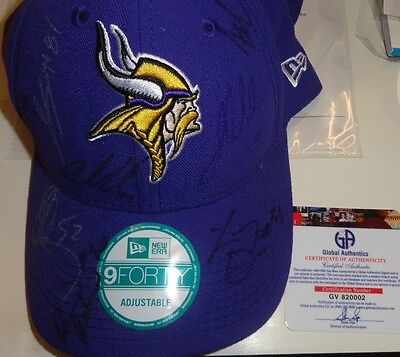 2010 MINNESOTA VIKINGS Team Signed Cap Chad Greenway Audie Cole Robison Sendejo