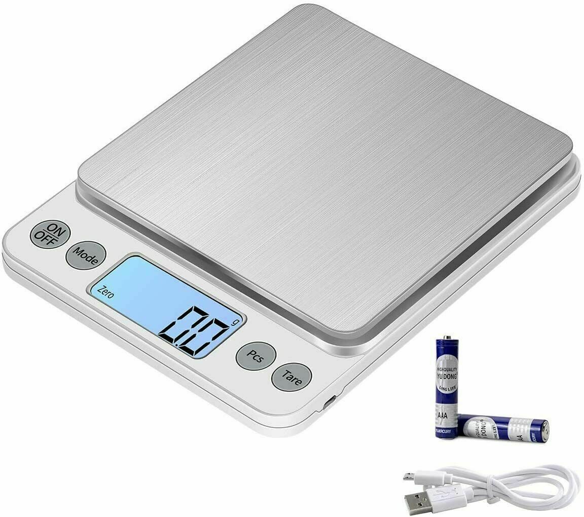 Portable 500g x 0.01g Digital LCD Scale Jewelry Kitchen Food