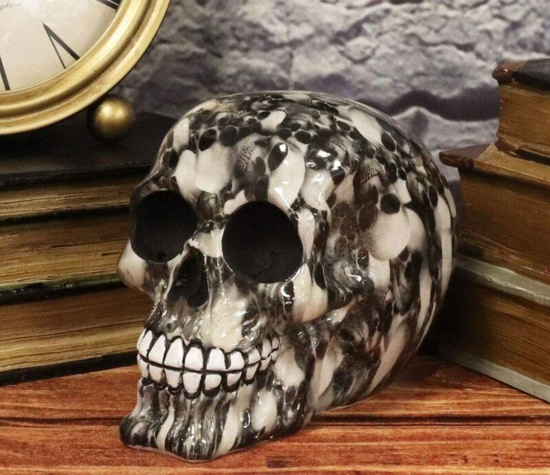 Ebros Day Of The Dead Black Ossuary Lost Souls Tattoo Sugar Cranium Skull Statue