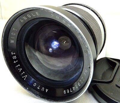 Vivitar 28mm f2.5 Non-Ai Lens for Nikon manual focus vintage
