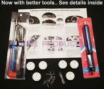 GM gauge instrument cluster REPAIR KIT 6 Stepper Motor tools 11 bulbs x27 168