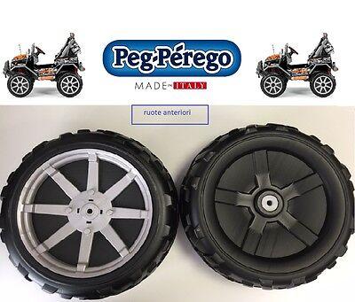PEG PEREGO - 2 RUOTE ANTERIORI GAUCHO ROCK'IN 12 VOLT SARP8997XNGR -nuovo- IT