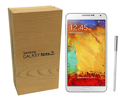 New Samsung Galaxy Note 3 SM-N900V (GSM UNLOCKED) LTE 32GB White in Box