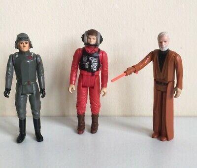 Vintage Star Wars Figures Job Lot Bundle With Lightsaber Weapon