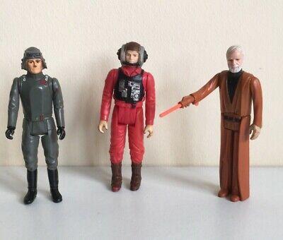 Vintage Star Wars Figures Job Lot Bundle With Lightsaber Weapon