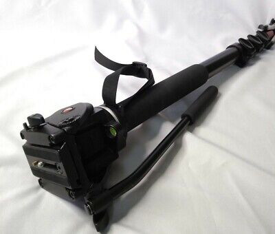Manfrotto 561 BHDV-1 Fluid Video Photo Monopod with Head & Tri-Pod Feet, Italy