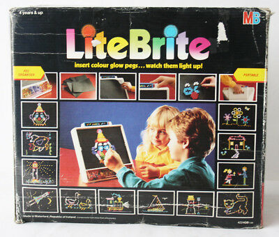 Rare Vintage 1988 Lite Brite Glow Pegs Light Up Board Game Mb New Nos !