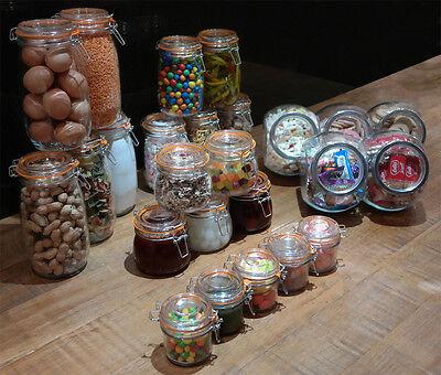 Glass Jars Clip Top Lid Jar Silicone Seal Airtight Store Preserve Kilner Style