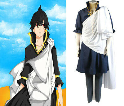 2017 Animal Fairy Tail Cosplay Zeref Costume Halloween Adult Male Full Set Suit - 2017 Halloween Costumes Male
