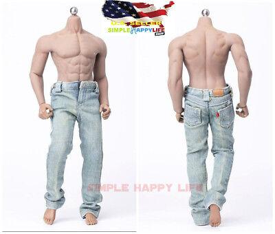 1/6 Light Color Jeans Pants Cloth For 12