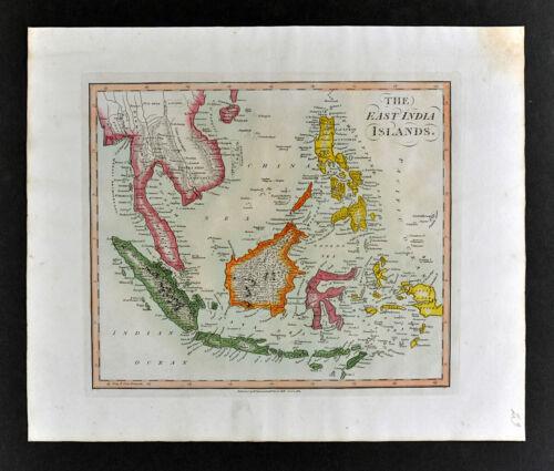 1812 Darton Union Atlas Map East Indies Philippines Singapore Sumatra Java Papua
