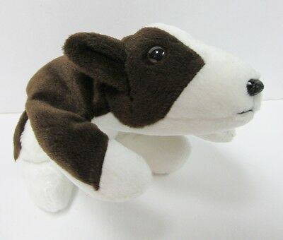Ty Beanie Baby Bruno, Dog (PIT BULL) Brand New PRISTINE CLEAN, MINT w/Mint Tags