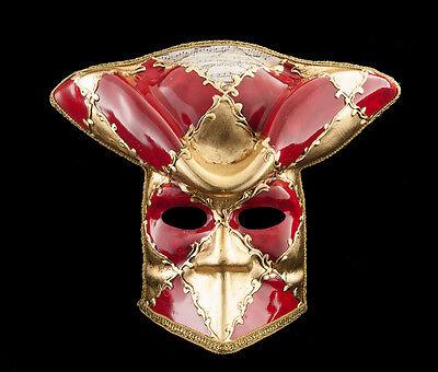 Mask Casanova from Venice Bauta Red Carnival Prom Venetian Vg13 1470