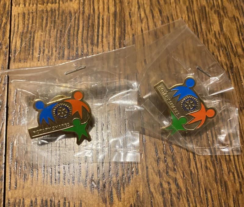 "Lot 2 Rotary International ""Rotary Shares"" Pins"