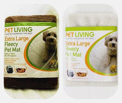 Luxury Extra Large Faux Sheep Skin Soft Fleecy Pet Blanket Mat Dogs Cat PET6077
