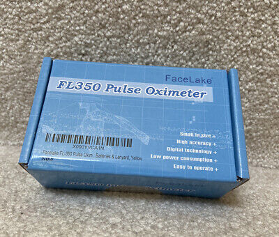 Pulse Oximeter-fl350 Facelakewcarrying Case Batteries Yellow Brand New