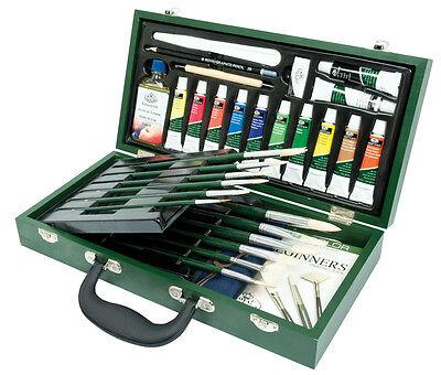 31 Pieza Óleo Artistas Pintura Box Set Pinceles Paleta Linaza RSET-OIL2000