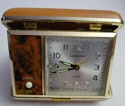 Vintage Hamilton Travel Alarm Clock With Light.
