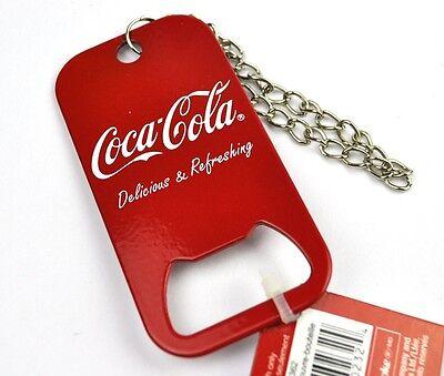 Coca-Cola Coke Dog Tag Stahl Schlüsselanhänger Flaschenöffner USA Bottle Opener