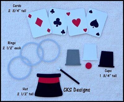 Die Cut Magic Set Magician Wand Cards Hat Tricks Scrapbook Paper Piecing CKS](Paper Wizard Hat)