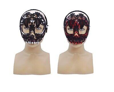 # Esqueleto Calavera Halloween Antifaz Dos Colores Disfraz Baile de Máscaras - De Halloween Esqueletos
