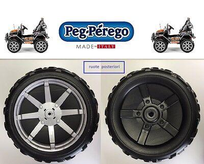 PEG PEREGO - 2 RUOTE POSTERIORI GAUCHO ROCK'IN 12 VOLT SARP9024XNGR -nuovo-IT