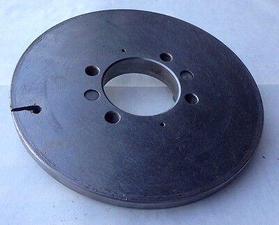 Steel 6-12 Face Plate Arbor Hole 2 Bolt Holes 38-16