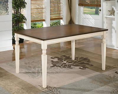 Ashley Furniture Rectangular Dining Table Whitesburg Brown White D583 25 New