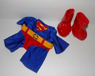 Build A Bear Superman Costume Suit Boots And  NO Cape  (Bear Suit Costume)