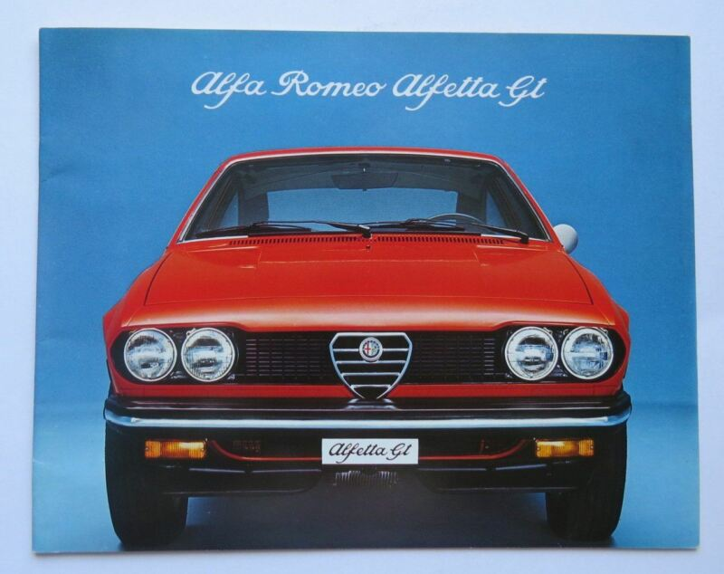 1976 Alfa Romeo Alfetta GT Sales Brochure Vintage Original